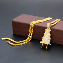 """Iced Out Plug"" Chain"