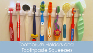 Toothbrush Holders and Toothpaste Squeezers