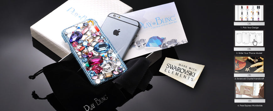 84918346a0b105 Bling Swarovski Crystal Phone Cases