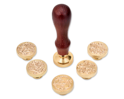 Wax Seal Stamp Set with Wooden Handle