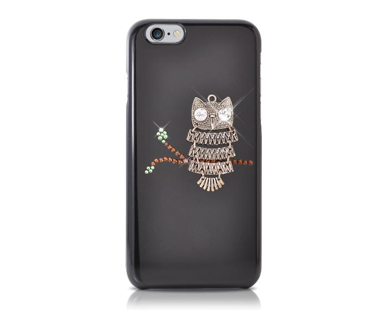 Owl On Tree Bling Swarovski Crystal Phone Cases