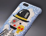 Monocular Pirates Bling Swarovski Crystal Phone Case
