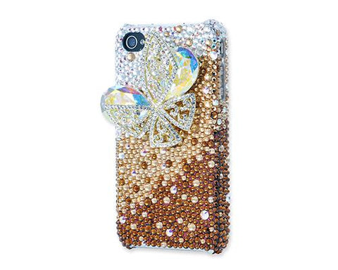 Butterfly Bling Swarovski Crystal Phone Cases - Brown