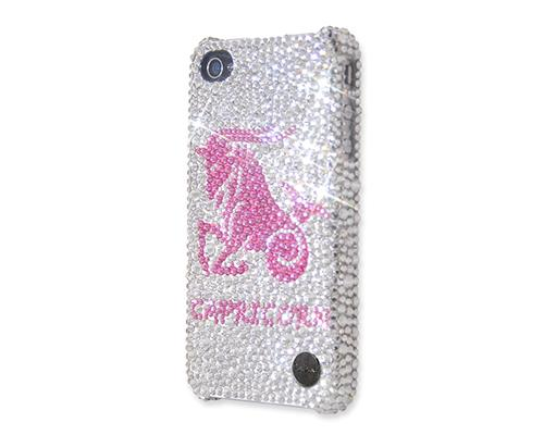 Horoscope Capricorn Bling Swarovski Crystal Phone Cases - Silver
