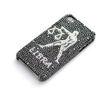 Horoscope Libra Bling Swarovski Crystal Phone Cases - Black