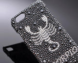 Horoscope Scorpio Bling Swarovski Crystal Phone Cases - Black