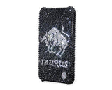 Horoscope Taurus Bling Swarovski Crystal Phone Cases - Black