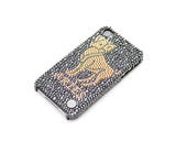 Horoscope Aries Bling Swarovski Crystal Phone Cases - Black Gold