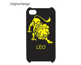 Horoscope Leo Bling Swarovski Crystal Phone Cases - Black Gold