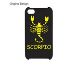 Horoscope Scorpio Bling Swarovski Crystal Phone Cases - Black Gold