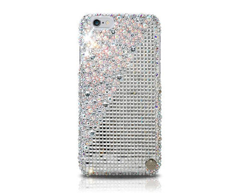 Cubical Maglia Big Bling Swarovski Crystal Phone Cases - White