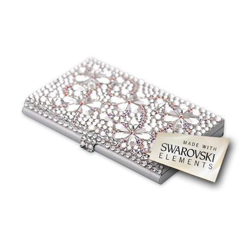 Snowflake Bling Swarovski Crystal Business Card Case