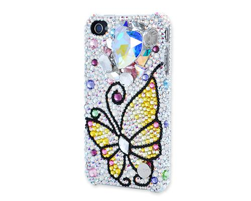 Butterfly Fantasy Bling Swarovski Crystal Phone Cases - Yellow