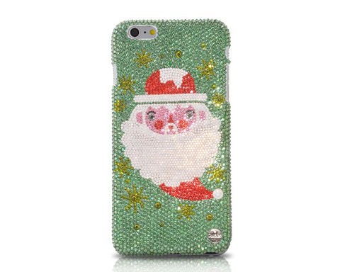 Christmas Santa Bling Swarovski Crystal iPhone 8 Cases