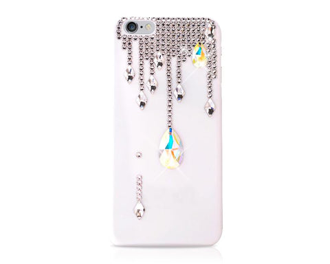 Drops Bling Swarovski Crystal Phone Cases - White
