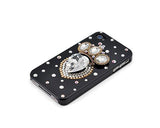 Crown Bling Swarovski Crystal Phone Cases - Black