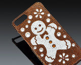 Christmas Snowflake Gingerbread Bling Swarovski Crystal iPhone X Cases