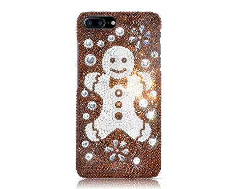 Christmas Snowflake Gingerbread Bling Swarovski Crystal iPhone Xs Max Cases