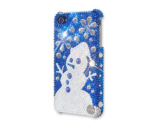 Christmas Snowflake Snowman Bling Swarovski Crystal iPhone 8 Cases