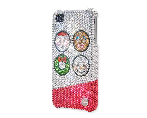 Christmas Happy Bling Swarovski Crystal iPhone 8 Cases