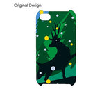 Christmas Fluorescent Rudolf Bling Swarovski Crystal iPhone 8 Cases