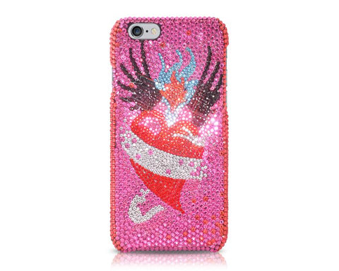 Fancy Love Bling Swarovski Crystal Phone Cases - Flame Of Heart