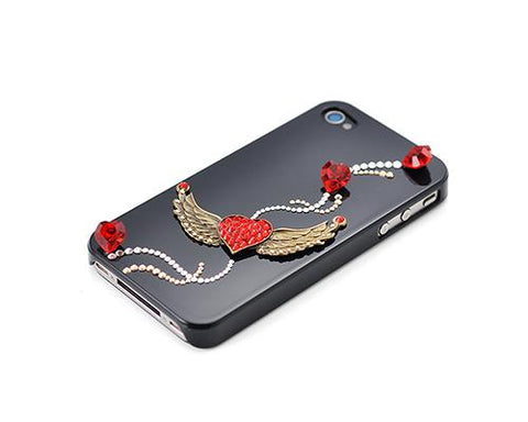 Wing's Heart Bling Swarovski Crystal Phone Cases