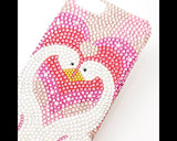 Love Swans Bling Swarovski Crystal Phone Cases