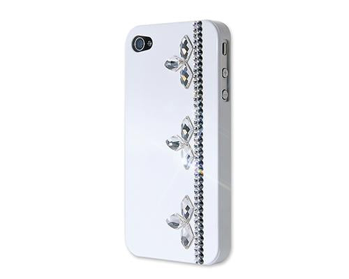 Floral Stripe Bling Swarovski Crystal Phone Cases