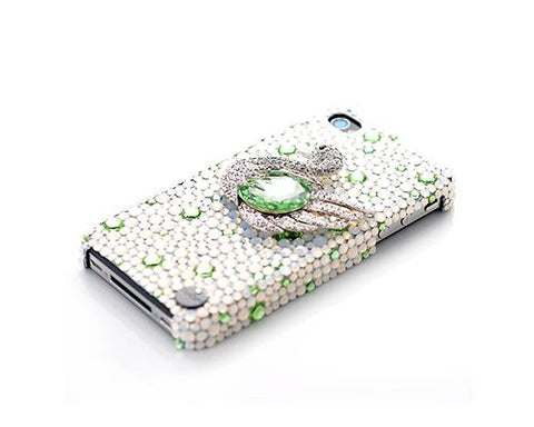 Swan Bling Swarovski Crystal Phone Cases - Green