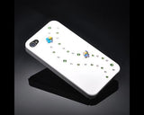 Floral Shadow Bling Swarovski Crystal Phone Cases - Green