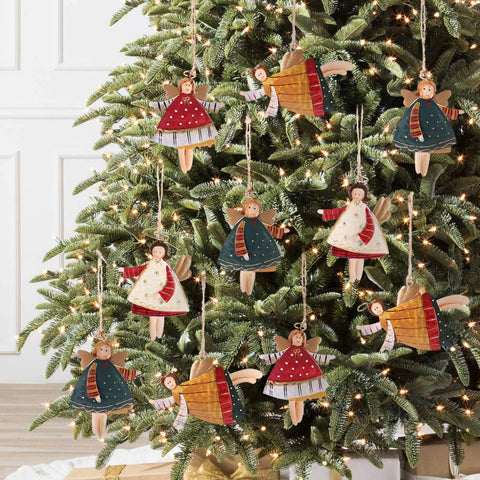 Christmas Tree Ornaments 12 Pieces Angel Xmas Hanging Decorations