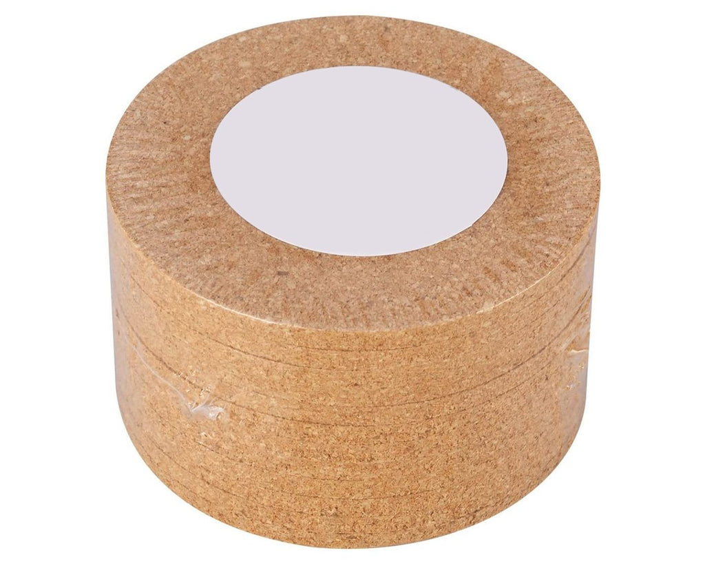 Blank Cork Coasters 12 Pieces 4 Inches Round Plain Absorbent Heat-Resistant Saucers