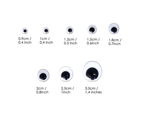 Googly Eyes Stickers 730 Pieces Self Adhesive Googly Wiggle Eyes