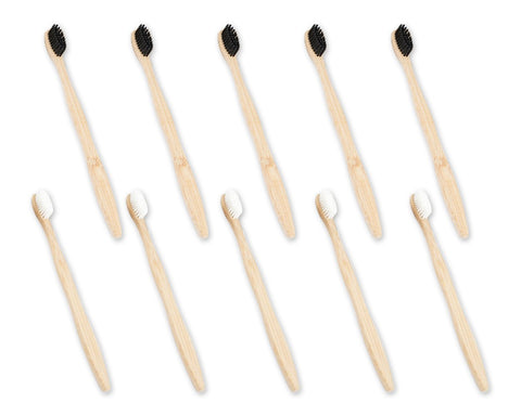 Bamboo Toothbrush 12 Pieces Biodegradable Toothbrushes with Soft Bristle