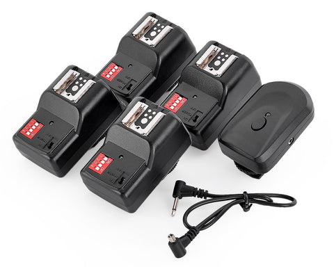 16 Channels Wireless Flash Trigger Set with 4 Receivers