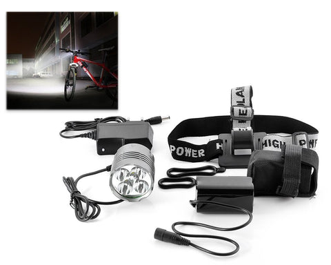 Waterproof CREE XML-T6 1800 Lumen Bike Headlight Kit - Black