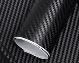 Carbon Fiber Sticker 152 x 30cm 3D Car Vinyl Wrap - Black