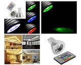 4 Pcs 5W GU10 Multiple Color LED Light Bulb with Wireless Remote Control
