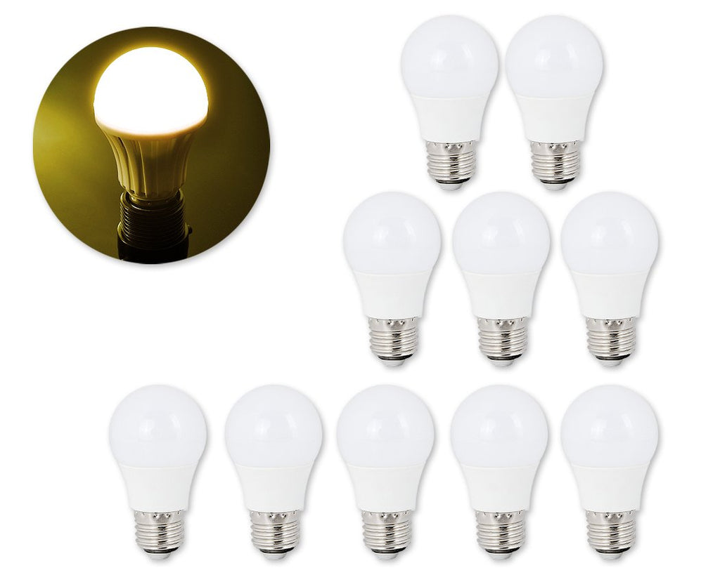 10 Pcs E27 LED Light Bulb 2835SMD 3000K - Warm White
