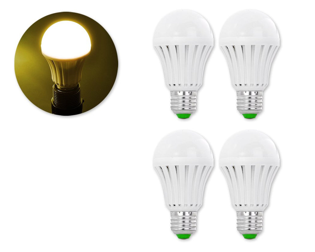 4 Pcs E27 LED Light Bulb 2835SMD 3000K - Warm White