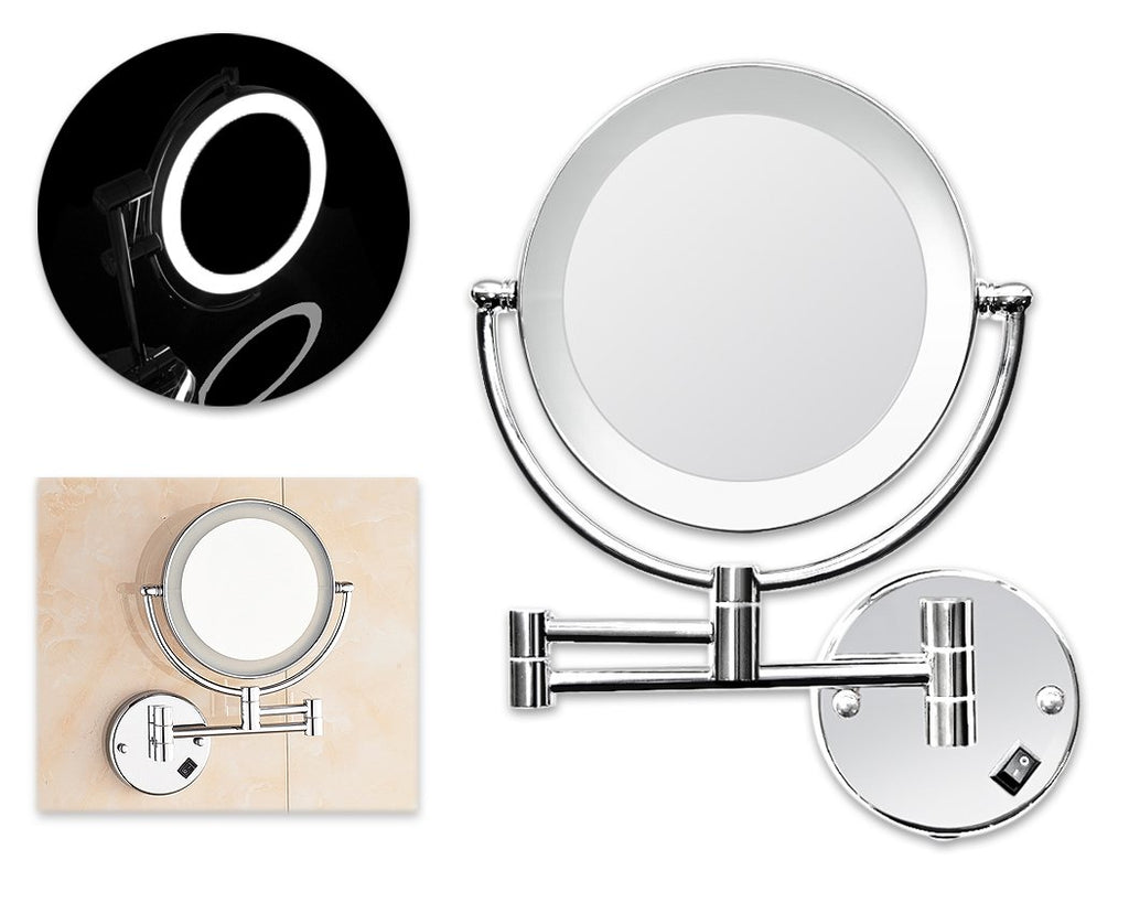 3x Magnifying LED Wall Mounted Makeup Mirror