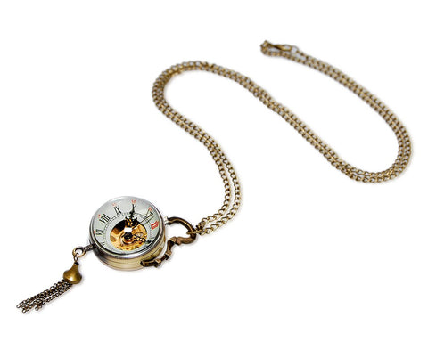 Retro Pendant Women's Mechanical Pocket Watch Necklace