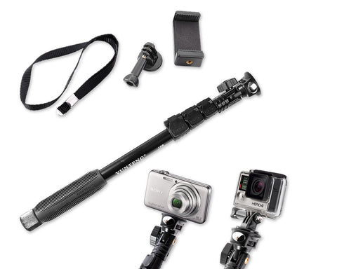 Selfie Stick with Adjustable Phone Holder