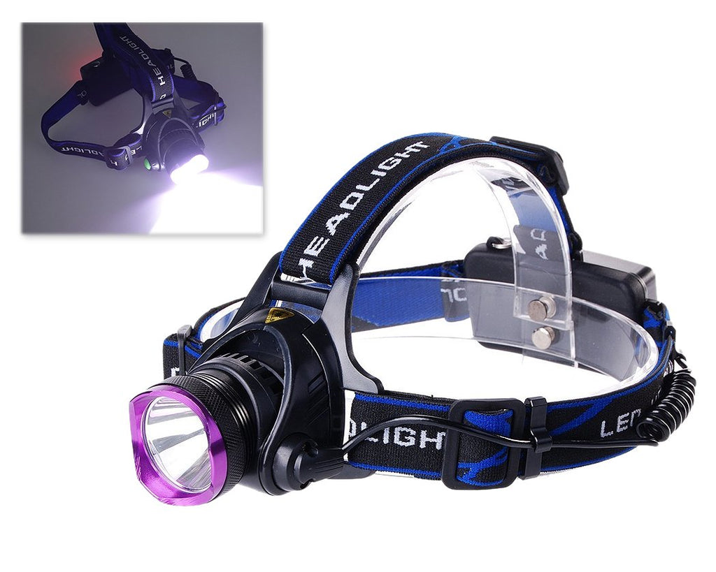 2200LM Aluminium LED Headlight with 2 Batteries