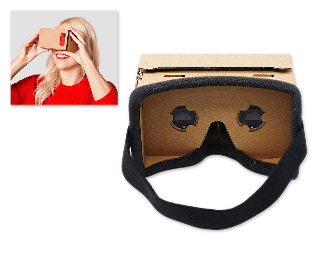 DIY Cardboard VR Headset Kit with Face Foam and Headband