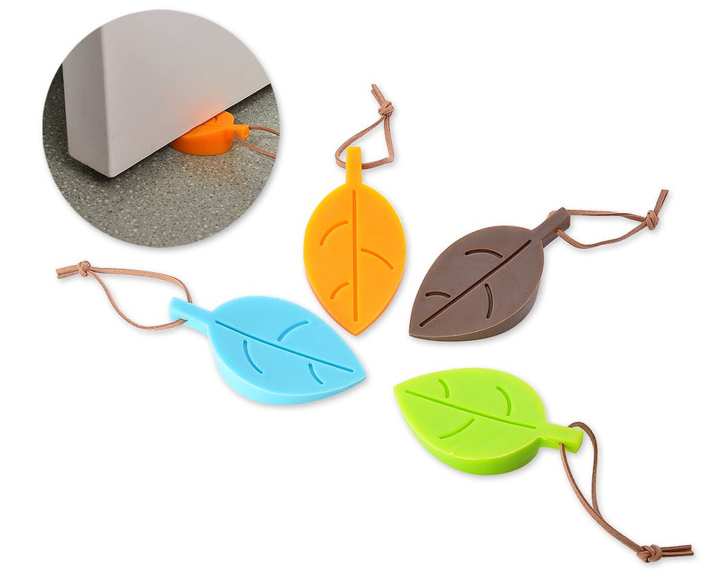 4 Pcs Leaf Shaped Silicone Door Stop