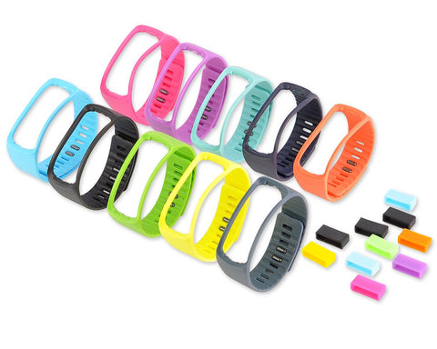 Set of 10 Pcs Colorful Replacement Bands for Samsung Gear Fit R350