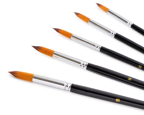 9 Pieces Pointed Round Paint Brush Set