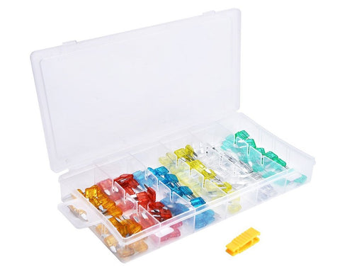 120 Pcs Assorted Automobile Mini Fuse Set with Case